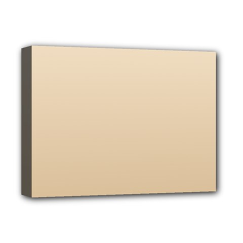 Champagne To Tan Gradient Deluxe Canvas 16  X 12  (framed)