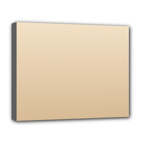 Champagne To Tan Gradient Deluxe Canvas 20  x 16  (Framed)