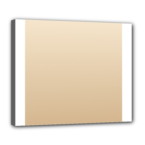 Champagne To Tan Gradient Deluxe Canvas 24  x 20  (Framed)