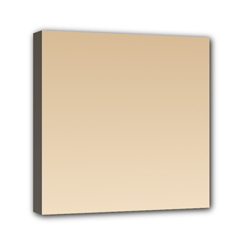 Tan To Champagne Gradient Mini Canvas 6  x 6  (Framed)