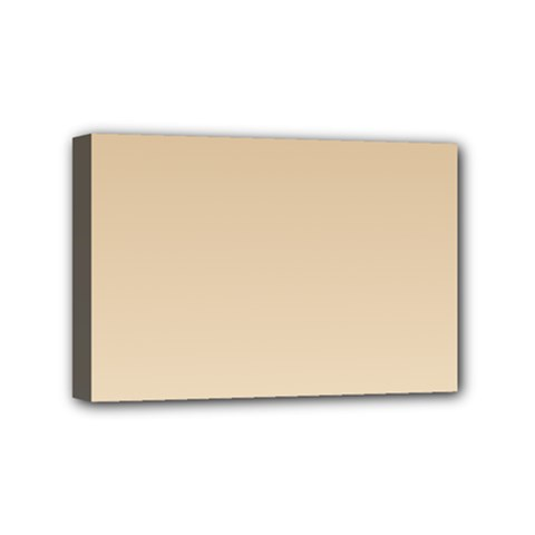 Tan To Champagne Gradient Mini Canvas 6  X 4  (framed)
