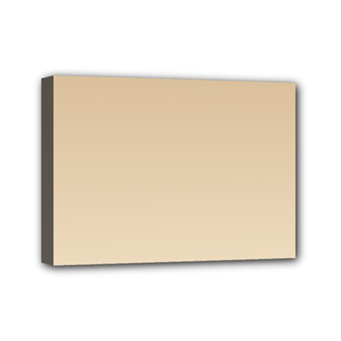Tan To Champagne Gradient Mini Canvas 7  x 5  (Framed)