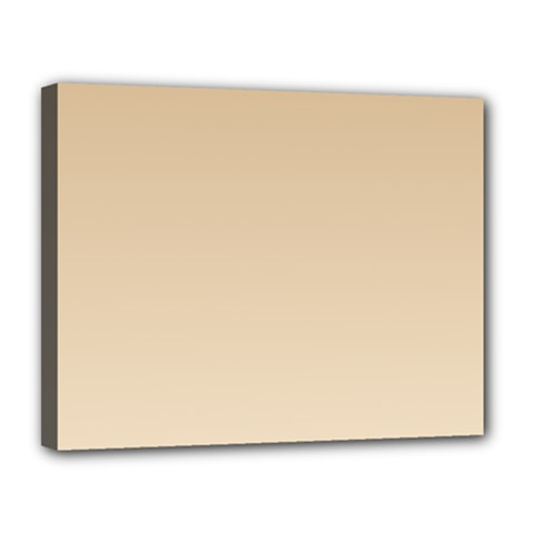 Tan To Champagne Gradient Canvas 14  x 11  (Framed)