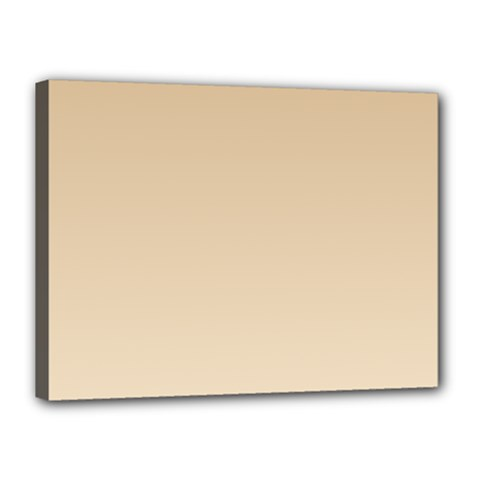 Tan To Champagne Gradient Canvas 16  x 12  (Framed)