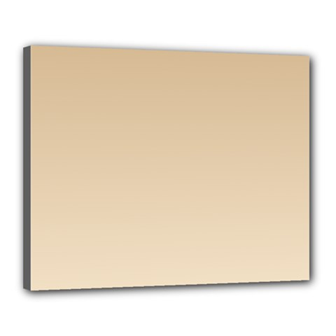Tan To Champagne Gradient Canvas 20  x 16  (Framed)