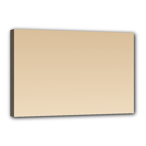 Tan To Champagne Gradient Canvas 18  X 12  (framed)