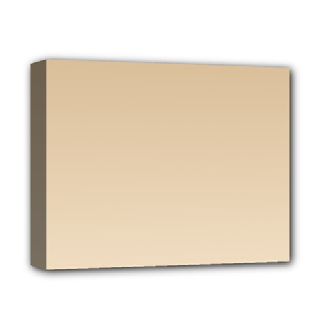 Tan To Champagne Gradient Deluxe Canvas 14  x 11  (Framed)