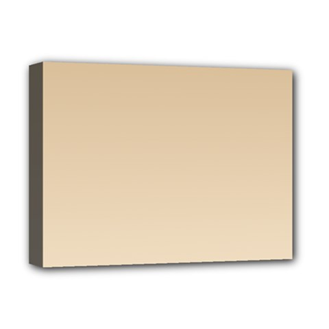 Tan To Champagne Gradient Deluxe Canvas 16  x 12  (Framed)