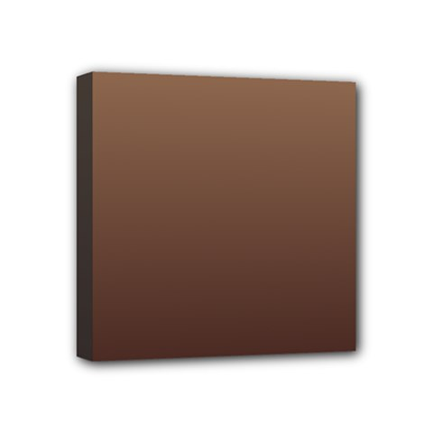 Chamoisee To Seal Brown Gradient Mini Canvas 4  X 4  (framed)