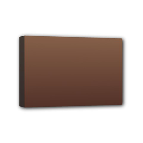Chamoisee To Seal Brown Gradient Mini Canvas 6  X 4  (framed)