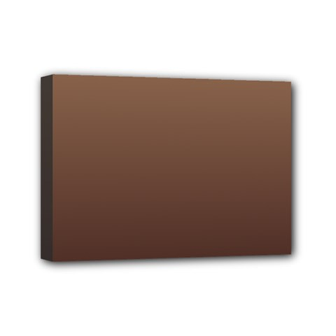 Chamoisee To Seal Brown Gradient Mini Canvas 7  x 5  (Framed)