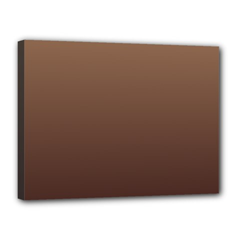 Chamoisee To Seal Brown Gradient Canvas 16  x 12  (Framed)