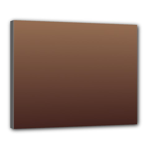 Chamoisee To Seal Brown Gradient Canvas 20  x 16  (Framed)