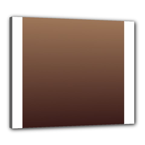 Chamoisee To Seal Brown Gradient Canvas 24  X 20  (framed)