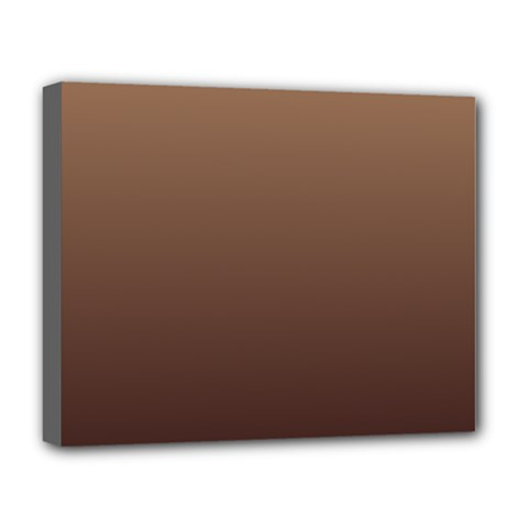 Chamoisee To Seal Brown Gradient Deluxe Canvas 20  x 16  (Framed)