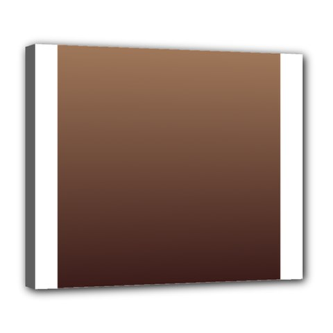 Chamoisee To Seal Brown Gradient Deluxe Canvas 24  x 20  (Framed)