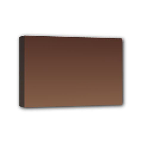 Seal Brown To Chamoisee Gradient Mini Canvas 6  X 4  (framed)