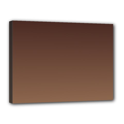 Seal Brown To Chamoisee Gradient Canvas 16  X 12  (framed)