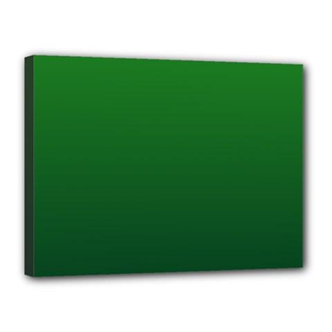 Green To Dark Green Gradient Canvas 16  X 12  (framed)