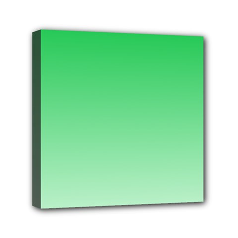 Dark Pastel Green To Pastel Green Gradient Mini Canvas 6  x 6  (Framed)