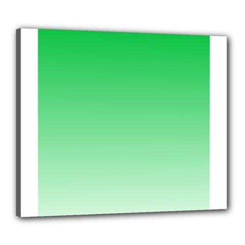 Dark Pastel Green To Pastel Green Gradient Canvas 24  x 20  (Framed)