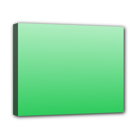 Pastel Green To Dark Pastel Green Gradient Canvas 10  X 8  (framed)