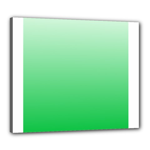 Pastel Green To Dark Pastel Green Gradient Canvas 24  X 20  (framed)