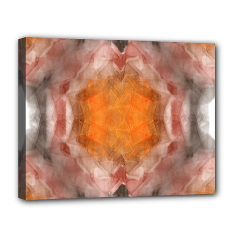 Seamless Background Fractal Canvas 14  X 11  (framed)