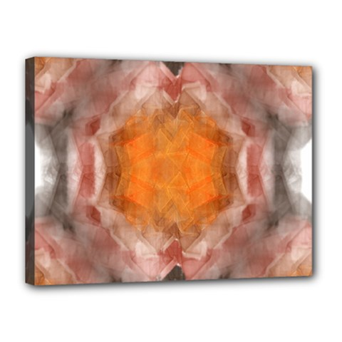 Seamless Background Fractal Canvas 16  X 12  (framed)