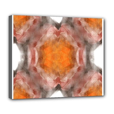Seamless Background Fractal Deluxe Canvas 24  x 20  (Framed)