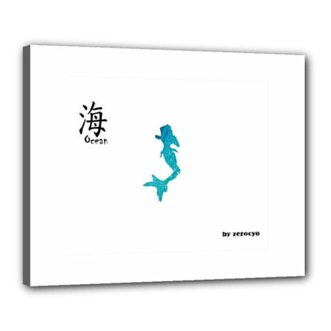 Ocean Canvas 20  X 16  (framed)