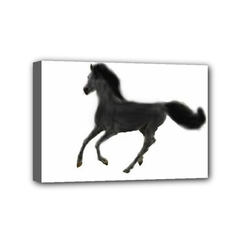 Running Horse Mini Canvas 6  x 4  (Framed)