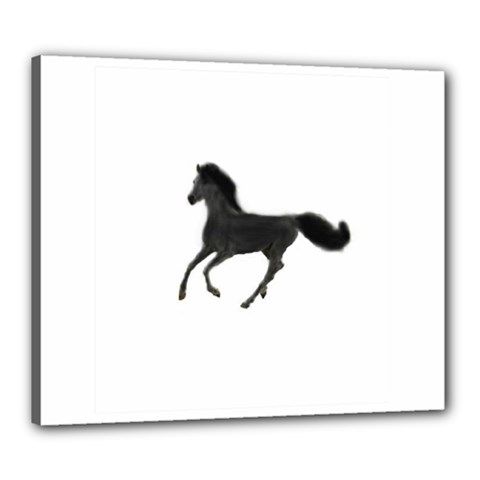 Running Horse Canvas 24  X 20  (framed)
