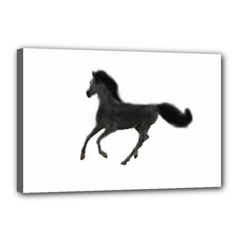 Running Horse Canvas 18  x 12  (Framed)