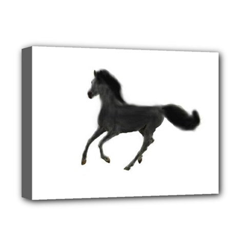 Running Horse Deluxe Canvas 16  x 12  (Framed)