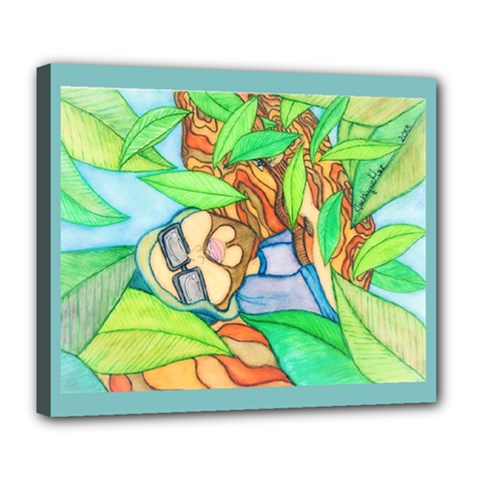 Tree Song Deluxe Canvas 24  x 20  (Framed)