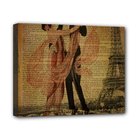 Vintage Paris Eiffel Tower Elegant Dancing Waltz Dance Couple  Canvas 10  x 8  (Framed)