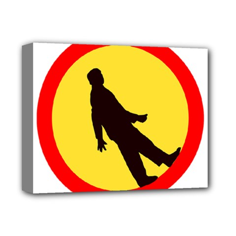Walking Traffic Sign Deluxe Canvas 14  X 11  (framed)