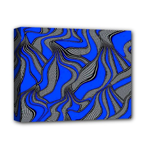 Foolish Movements Blue Deluxe Canvas 14  x 11  (Framed)