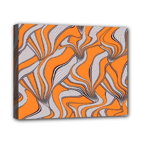 Foolish Movements Swirl Orange Canvas 10  x 8  (Framed)