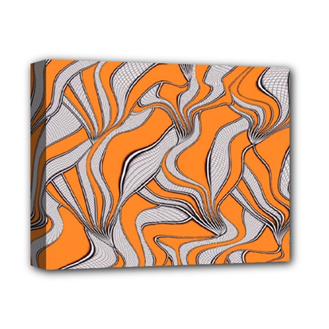 Foolish Movements Swirl Orange Deluxe Canvas 14  x 11  (Framed)