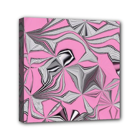 Foolish Movements Pink Effect Jpg Mini Canvas 6  x 6  (Framed)
