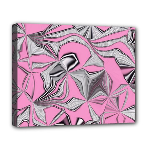 Foolish Movements Pink Effect Jpg Deluxe Canvas 20  x 16  (Framed)