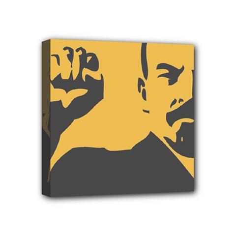 POWER WITH LENIN Mini Canvas 4  x 4  (Framed)