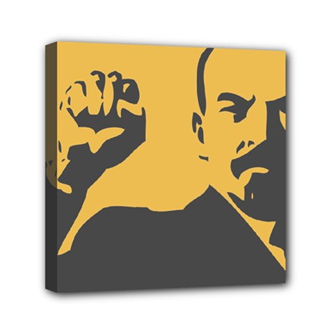 POWER WITH LENIN Mini Canvas 6  x 6  (Framed)