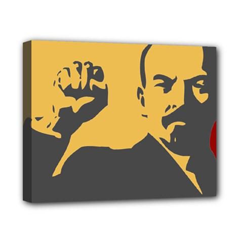 Power With Lenin Canvas 10  X 8  (framed)