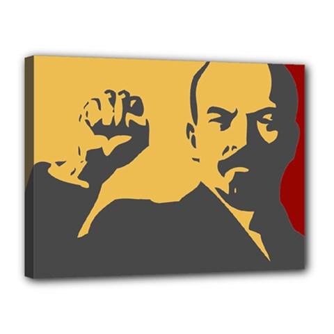 Power With Lenin Canvas 16  X 12  (framed)