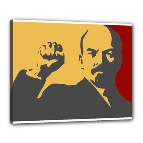 POWER WITH LENIN Canvas 20  x 16  (Framed)