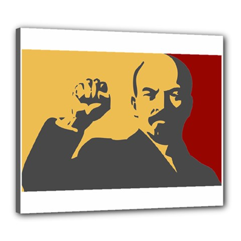 POWER WITH LENIN Canvas 24  x 20  (Framed)