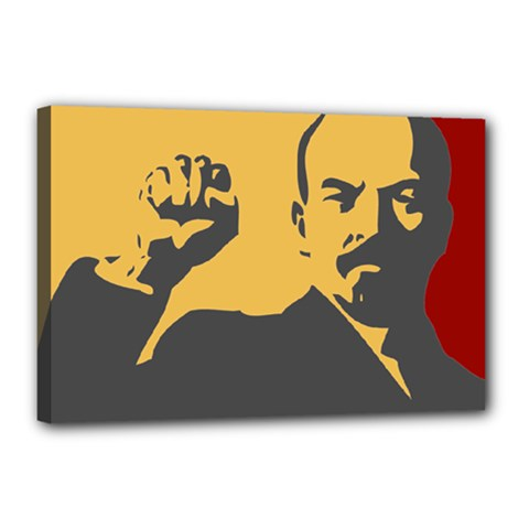 POWER WITH LENIN Canvas 18  x 12  (Framed)